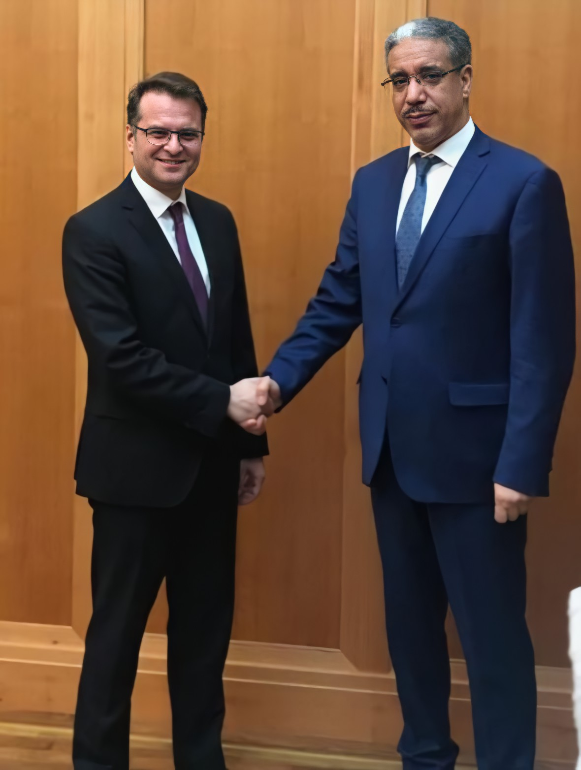HEM Aziz RABBAH Minister of Energy, Mines and Environment (MEME) bilaterally with Andreas FEICHT State Secretary at the Ministry of Economic Affairs and Energy (BMWi) on the fringes of the BETD 2019.